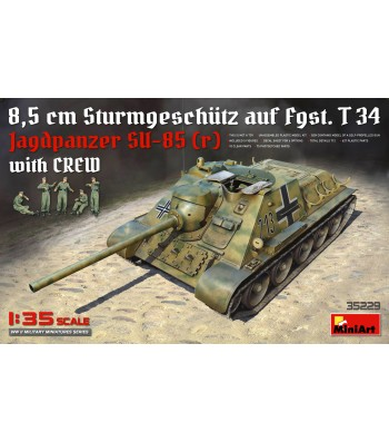 1:35 Jagdpanzer SU-85 (r) with Crew - 5 figures