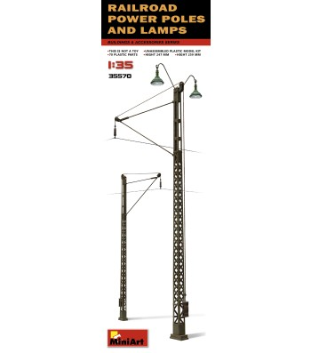1:35 Railroad Power Poles & Lamps