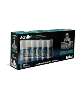 WORLD OF WARSHIPS EU - Acrylic Paint Set (6 x 20 ml)
