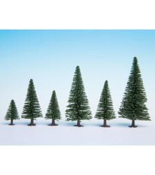 Model Fir Trees, 10 pieces, 5 - 14 cm high