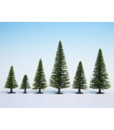 Model Spruce Trees, 10 pieces, 5 - 14 cm
