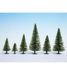 Model Spruce Trees, 5 pieces, 5 - 9 cm high
