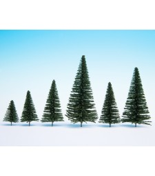 Fir Trees with Planting Pin, 10 pieces, 5 - 14 cm