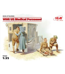 1:35 WWI US Medical Personnel (100% new molds) - 4 figures