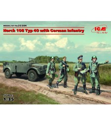 1:35 Horch 108 Typ 40 with German Infantry - 4 figures
