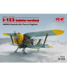 1:72 Finnish Air Force Fighter I-153, WWII, winter version