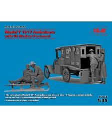 1:35 Model T 1917 Ambulance with US Medical Personnel - 4 figures