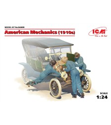 1:24 American mechanics (1910s) (3 figures)  (100% new molds)