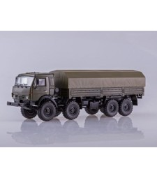 """KAMAZ-6350 """"Mustang"""" 8x8 Flatbed Truck with tent - Khaki"""