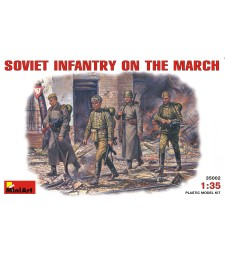 1:35 Soviet Infantry on March - 5 figures