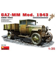 1:35 GAZ-MM, Model 1943, Cargo Truck - with 2 figures