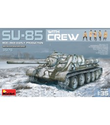 1:35 SU-85 Mod. 1943 (Early Production) with crew - 5 figures and tank