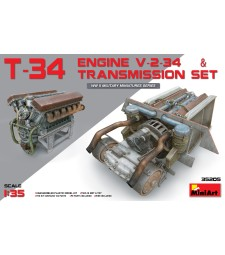 1:35 T-34 Engine (V-2-34) & Transmission Set