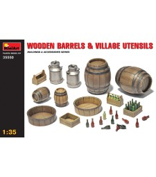1:35 Wooden Barrels & Village Utensils