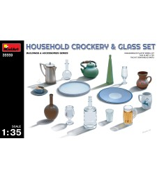1:35 Household Crockery & Glass Set