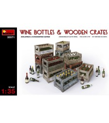 1:35 Champagne & Cognac Bottles with Crates