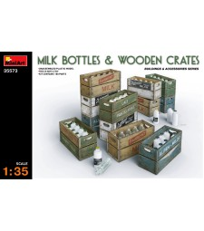 1:35 Milk Bottles & Wooden Crates