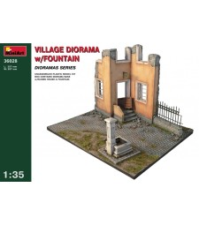 1:35 Village Diorama with Fountain