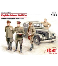 1:35 Kapitan Saloon Staff Car with Soviet Staff Personnel