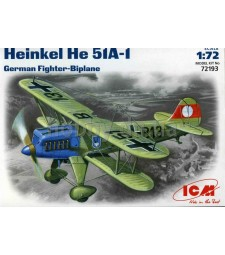1:72 Heinkel He 51A-1, German Biplane Fighter