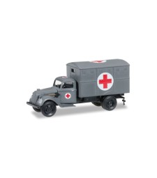 """1:87 Ural truck with ambulance box (with tactical sign) """"German Forces"""""""