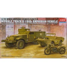 1:72 M3 U.S. HALFTRACK & 1:4ton AMPHIBIAN VEHICLE