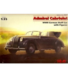 1:35 Opel Admiral Cabriolet WWII German Staff Car with Figures