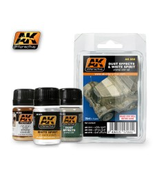 AK-060 DUST EFFECTS AND WHITE SPIRIT  - Weathering Set (3 x 35 ml)