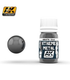 AK-476 XTREME METAL STEEL  (30 ml) - Xtreme Metal Color