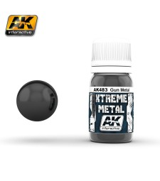 AK-483 XTREME METAL GUN METAL  (30 ml) - Xtreme Metal Color