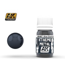 AK-487 XTREME METAL METALIC BLUE  (30 ml) - Xtreme Metal Color