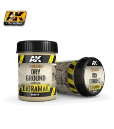 AK-8015 TERRAINS DRY GROUND - (250 ml, Acrylic)  - Texture Products