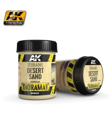 AK-8020 TERRAINS DESERT SAND - (250 ml, Acrylic)  - Texture Products