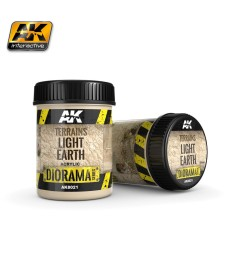 AK-8021 TERRAINS LIGHT EARTH - (250 ml, Acrylic)  - Texture Products