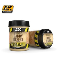 AK-8022  TERRAINS SANDY DESERT - (250 ml, Acrylic)  - Texture Products