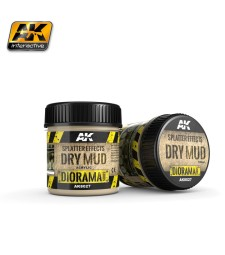 AK-8027 SPLATTER EFFECTS DRY MUD - (100 ml, Acrylic)  - Texture Products