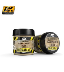 AK-8031 SPLATTER EFFECTS ACCUMULATED DUST - (100 ml, Acrylic)  - Texture Products