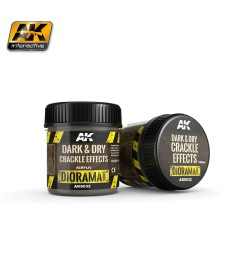 AK-8032 DARK & DRY CRACKLE EFFECTS - (100 ml, Acrylic)  - Texture Products