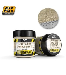 AK-8033 LIGHT & DRY CRACKLE EFFECTS - (100 ml, Acrylic)  - Texture Products