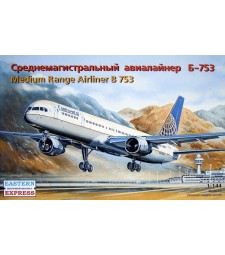 1:144 Boeing 757-300 American medium-haul airliner, Continental Airlines