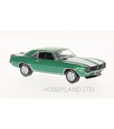Chevrolet Camaro RS, Metallic-Green, White, 1969