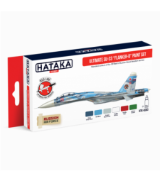 "HTK-AS83 Ultimate Su-33 ""Flanker-D"" paint set (6 x 17 ml) - RED LINE - AIRBRUSH DEDICATED"