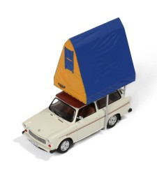 TRABANT 601 1980 Light Grey (with Roof tent in RESIN)
