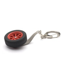 8-SPOKES WHEEL KEYCHAIN-RED