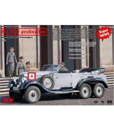 1:35 Mercedes-Benz G4 (1939 production) German Car with Passengers (4 figures)