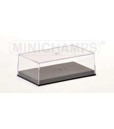 FORMULA 1 CLEAR COVER AND BASE PLATE 1/43 STANDARD MINICHAMPS (12,0 x 7,2 x 3,9)