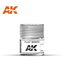 RC004 Flat White - Real colors (10ml) - Acrylic Lacquer Paints