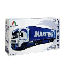 1:24 DAF XF105 with MARITIME Trailer