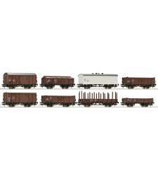 Goods wagons Set , ÖBB , 8pcs, epoch IV