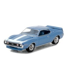 1971 AMC Javelin - Diamond Blue Metallic Solid Pack - GreenLight Muscle Series 18